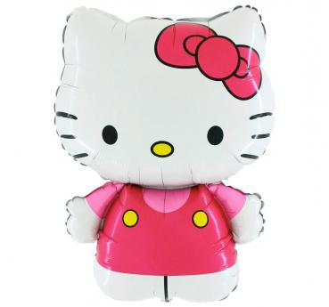 640 Nr.2  Kitty Figur rosa Stabballon  10 Stk