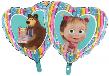 640/1 Nr 34 Masha and the Bear Regenbogen 10 Stk