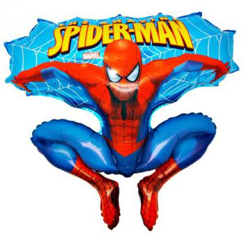 641 B Spiderman blau 10 Stk