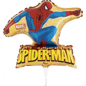 640 Nr.4  Spiderman gold  Stabballon 10 Stk